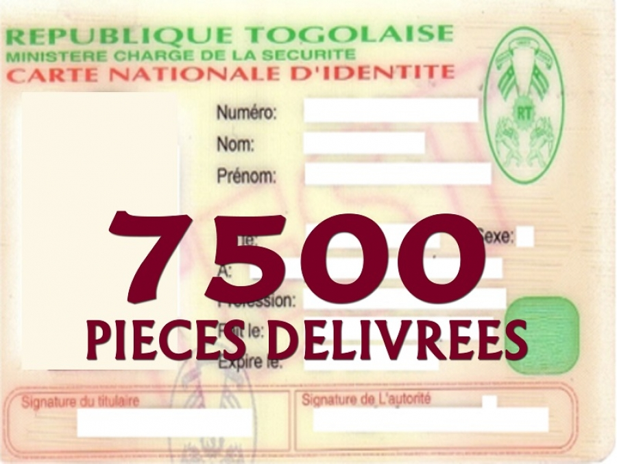 -  7500 PIECES DELIVREES AU COURS DE OPERATION L'« ADMINISTRATION DE PROXIMITE »